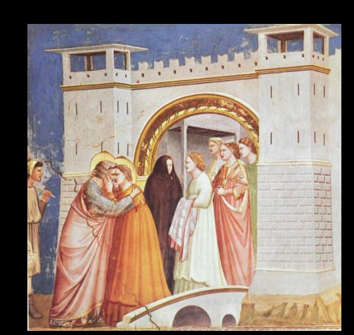 La rencontre entre Ste Anne et St Joachim à la porte Dorée par Giotto